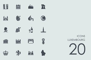 Luxembourg icons