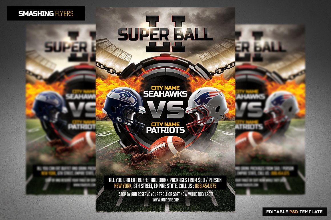 american football flyer template flyer templates creative market