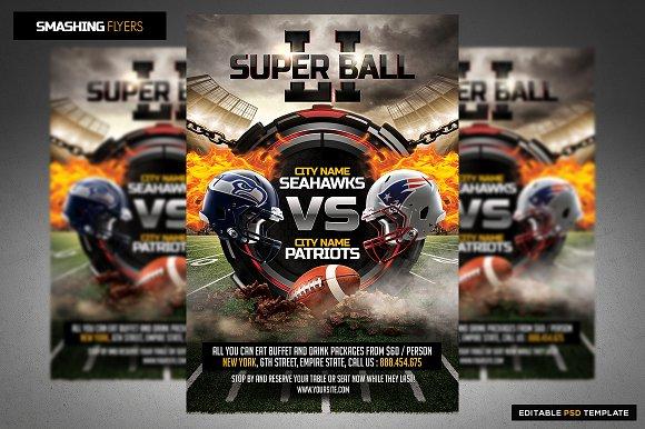 american football flyer template flyer templates creative market