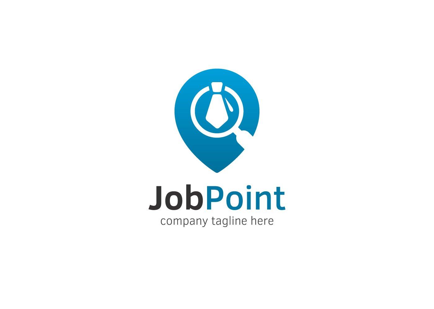 job point logo logo templates creative market. Black Bedroom Furniture Sets. Home Design Ideas