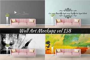 Wall Mockup - Sticker Mockup Vol 138