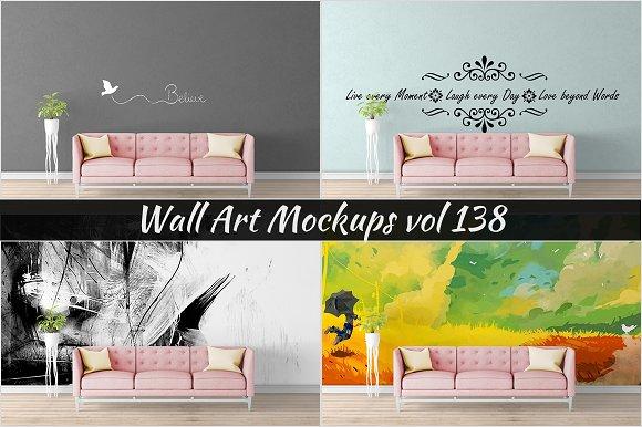 Wall Mockup - Sticker Mockup Vol 138