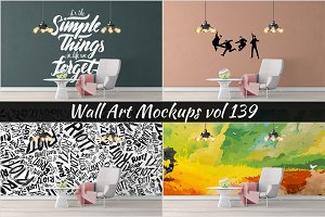 Wall Mockup - Sticker Mockup Vol 139