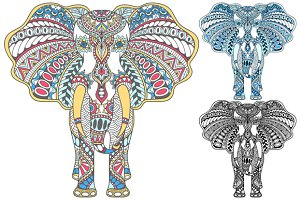 Set of decorated Indian Elephant 2