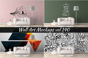 Wall Mockup - Sticker Mockup Vol 140