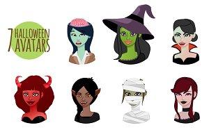 Halloween avatar set