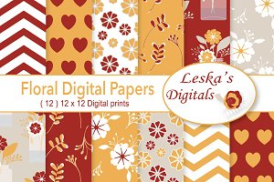 Digital Paper Pack - Florals