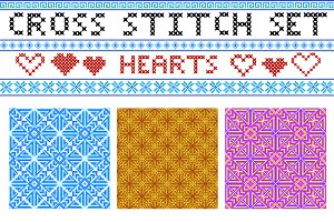 Cross Stitch letters + Patterns.