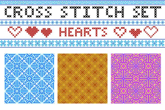 cross stitch letters patterns