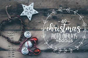 49 Christmas photo overlays