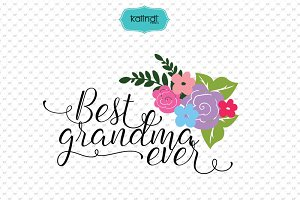 Best Grandma ever SVG file