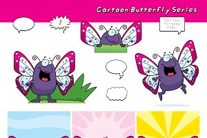 Cartoon Butterfly Series