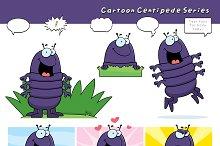 Cartoon Centipede Series