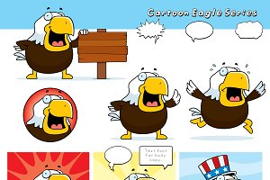 Cartoon Bald Eagle Series