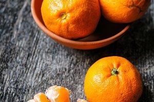 Fres organic tangerines