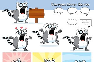 Cartoon Lemur Series