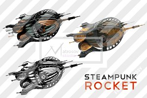 Steampunk rocket set