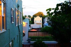 Quiet California Riverside Town