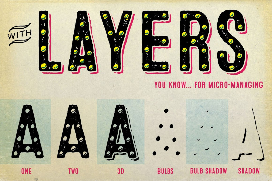 20 Layered Fonts To Create Infinite Combinations ~ Creative