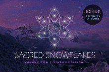 Sacred Snowflakes Vector Set Vol. 2
