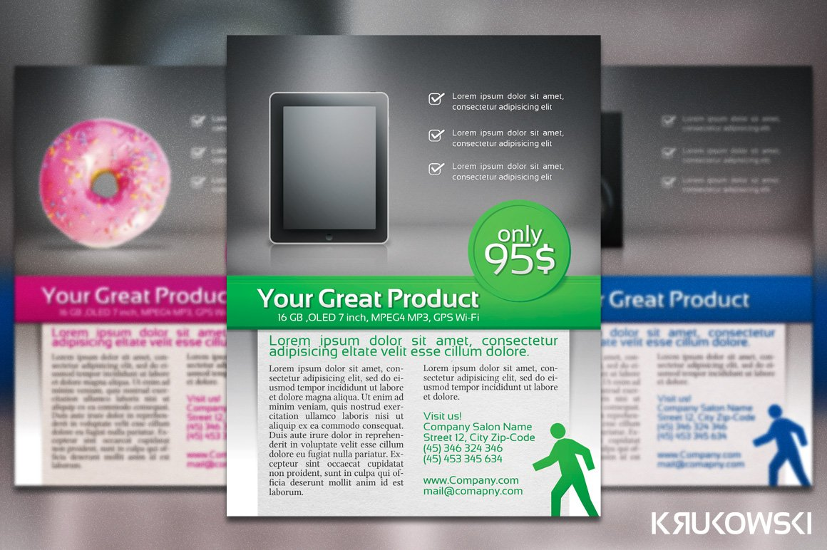 product presentation flyer poster flyer templates creative market