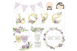 Wedding Clip Art Set
