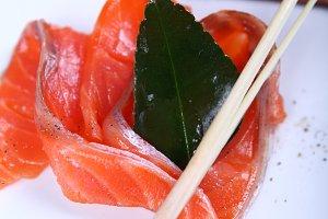 Fresh raw white fish