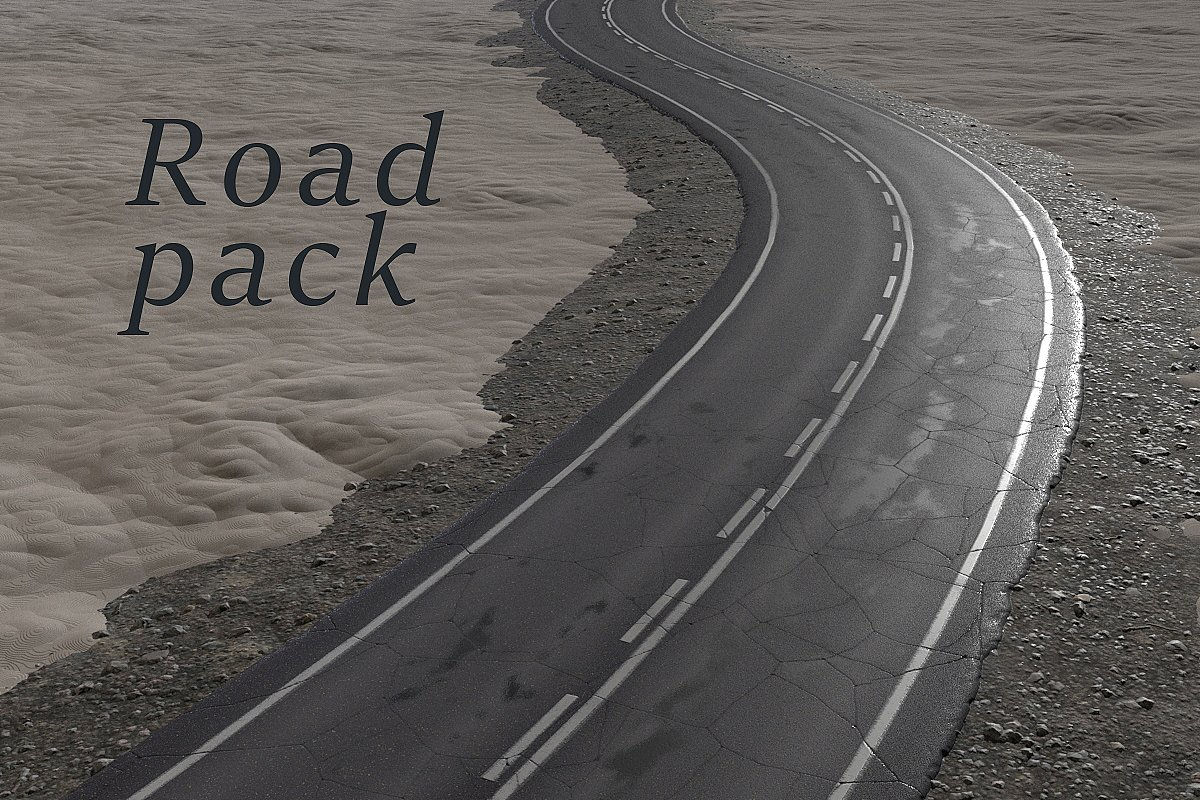 Road texture pack (PBR)