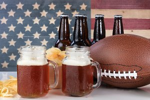 Beer and chips for football season