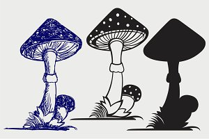 Mushrooms SVG