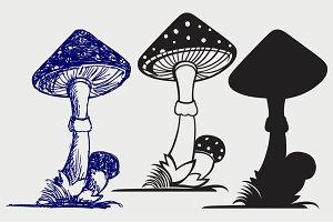 Mushrooms SVG