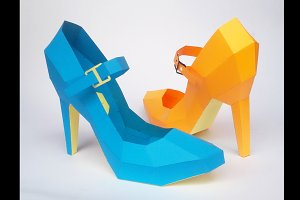 DIY High Heel Belly -3d papercraft