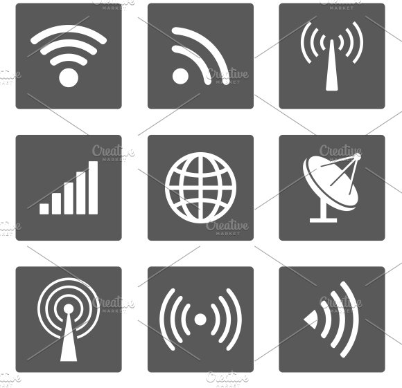 wireless icons ~ Icons ~ Creative Market