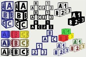 Alphabet cubes SVG