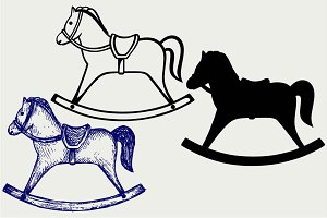 Rocking horse SVG