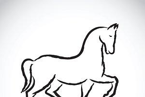 Vector of a horse.