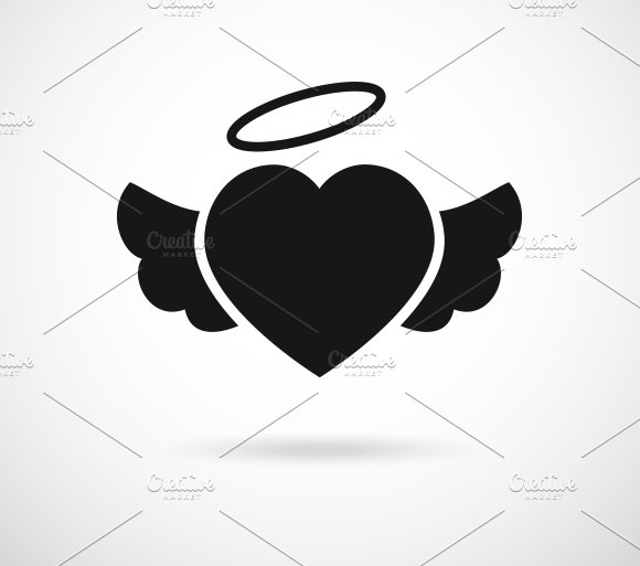 Heart With Wings Icon Icons Creative Market