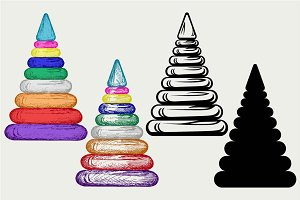 Pyramid plastic rings SVG