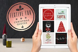 Festive Fun Social Media Quotes Pack