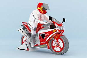 DIY Sports Bike - 3d papercraft