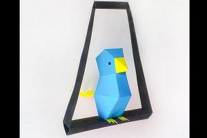 DIY Little Bird - 3d papercraft