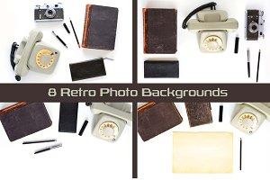 8 Retro Backgrounds