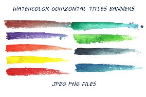 Watercolor  banners for titles