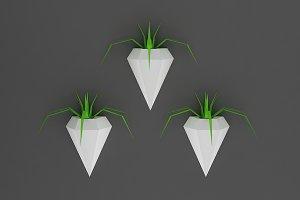 DIY Wall Planters - 3d papercraft