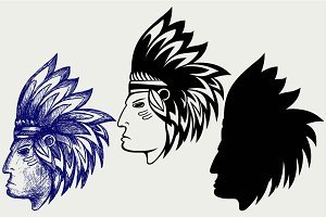 American indian SVG