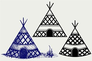 Indian tepee SVG