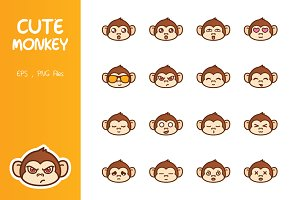 Cute Monkey Emoticon