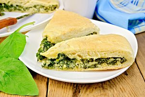 Pie with spinach
