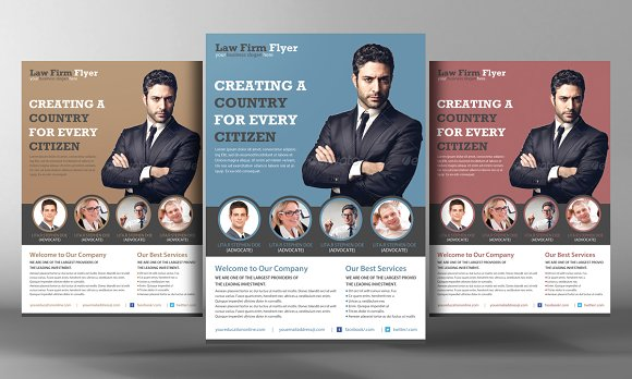 law firm flyer template flyer templates creative market. Black Bedroom Furniture Sets. Home Design Ideas