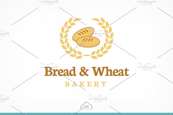 Bread & Wheat Logo Template